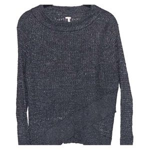 Free people cross front sweater
